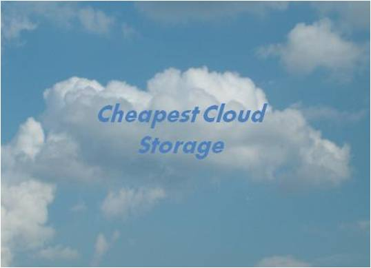 Top 5 Cheap Personal Cloud Storage Services,Low Cost Online File Storage